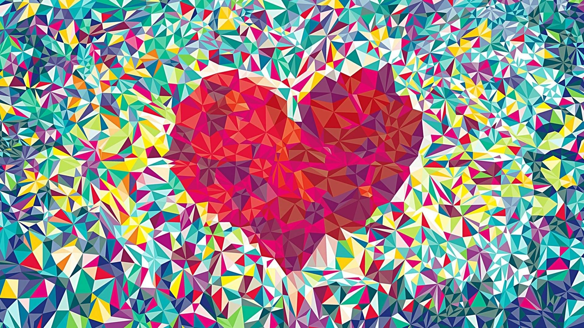 Cool Heart Background For Download