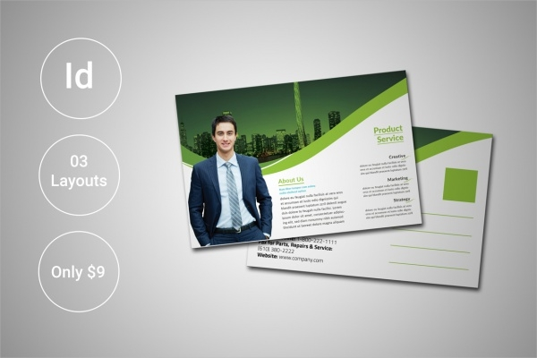corporate business invitation postcard template