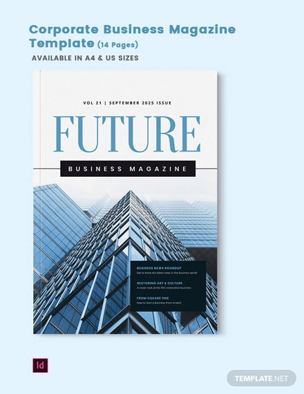 corporate business magazine template