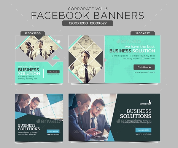 Corporate Facebook Banner Template