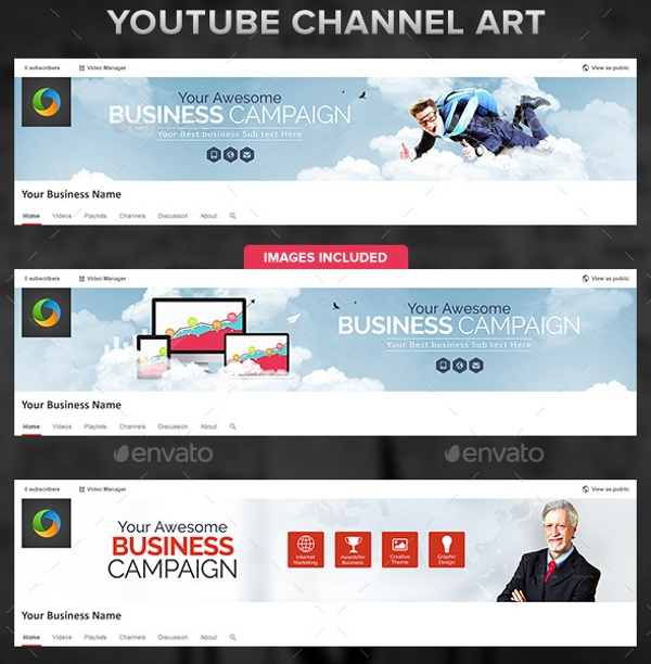 Youtube Channel Banner Maker: 21+ Elegant Corporate Banner Designs & Creatives