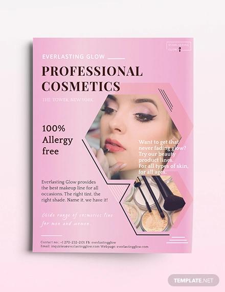 cosmetics flyer