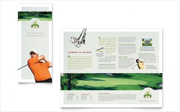 Course Tri Fold Brochure Template