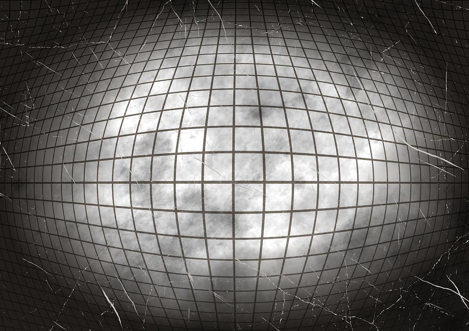 Cracked Diamond Ball Background