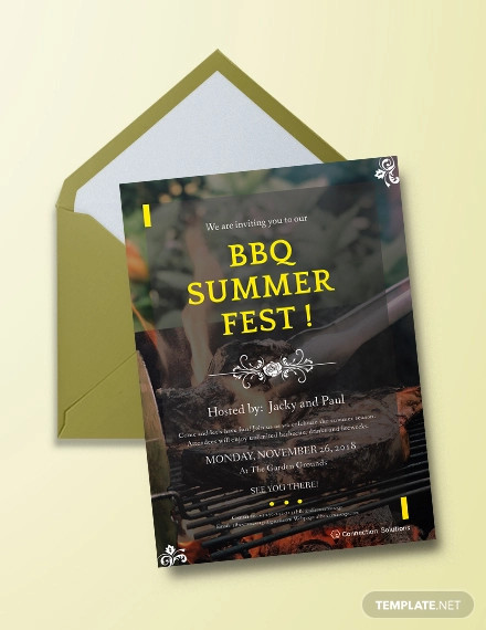 creative bbq invitation