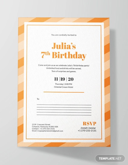 creative birthday postcard invitation