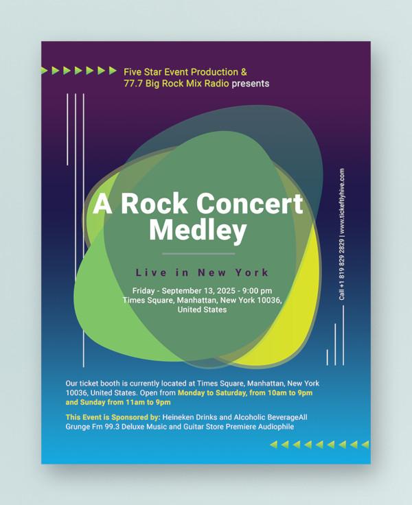 creative concert flyer