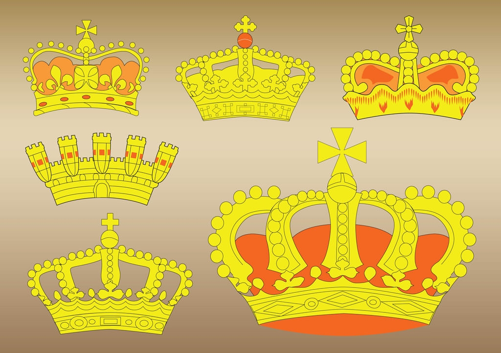 Crown Vectors Set