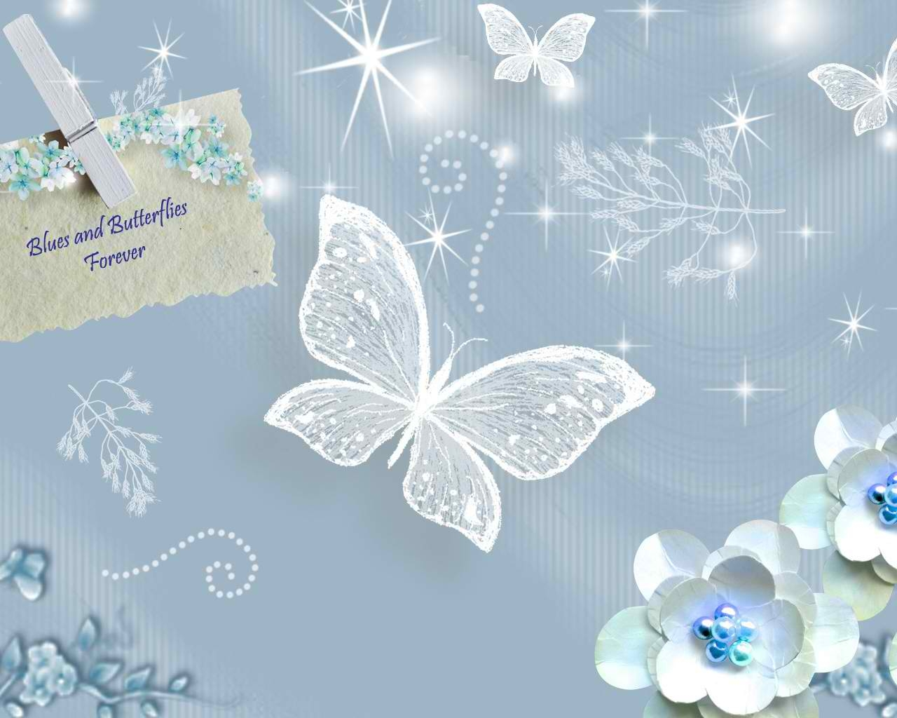 Crystal Butterfly Wallpaper