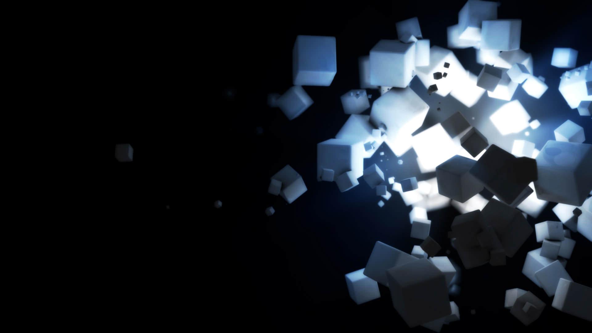 Cubes in Dark Background Wallpaper
