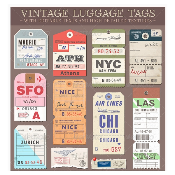 Customizable Luggage Tags Design