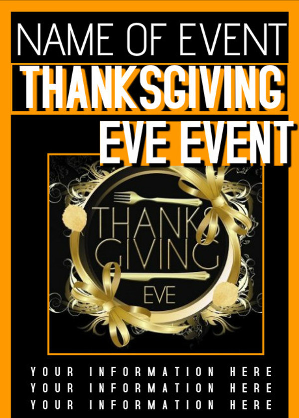 Customizable Thanks Giving Event flyer