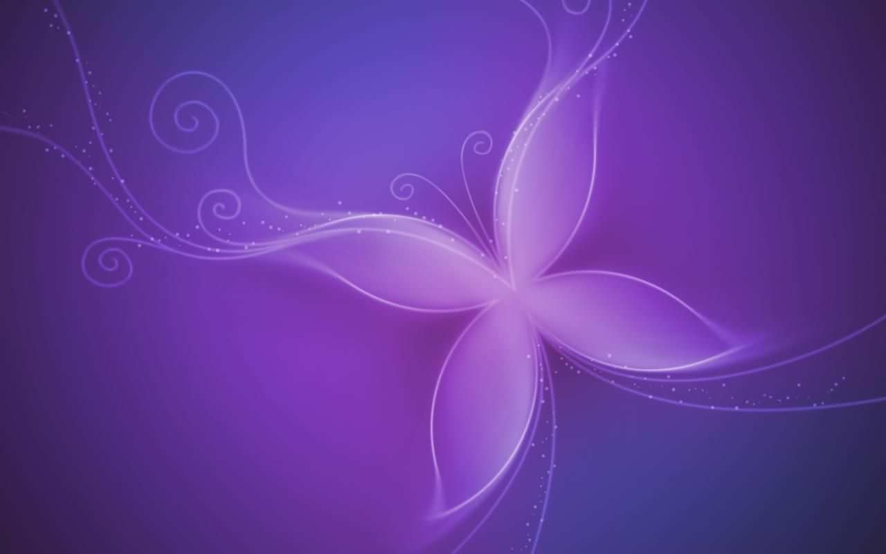 Cute Butterfly Purple Background
