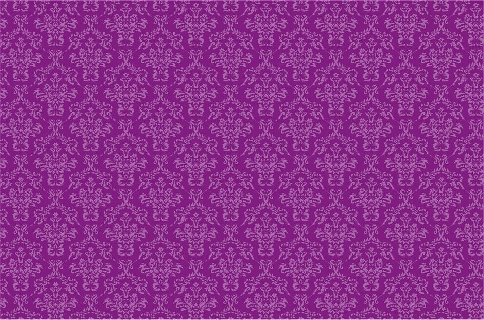 Damask Pattern Purple Background