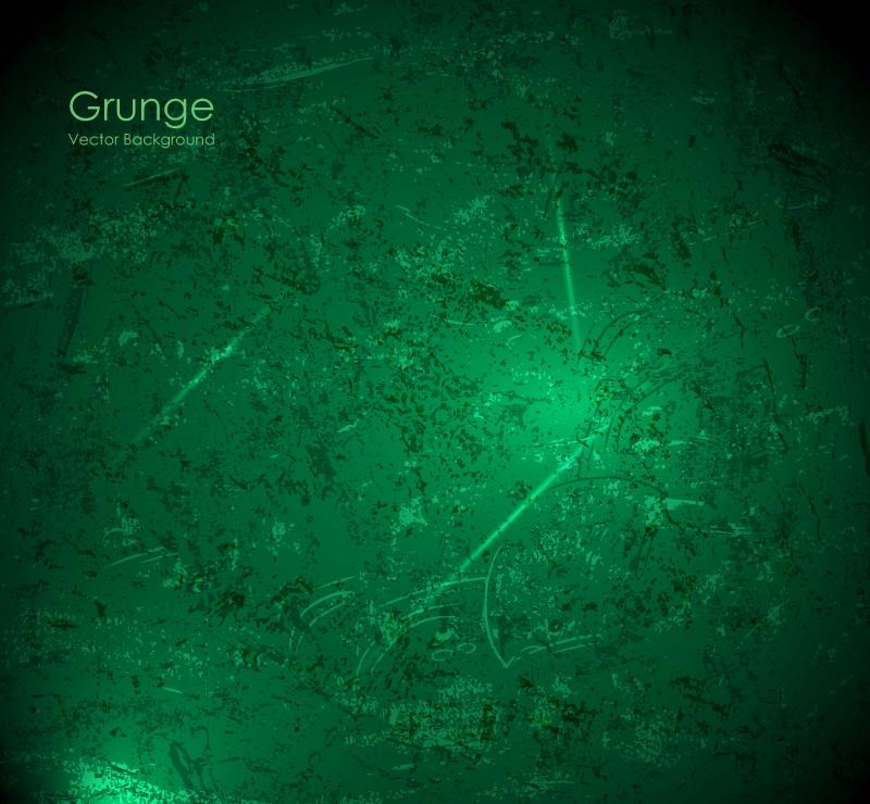 Dark Green Grunge Vector Background