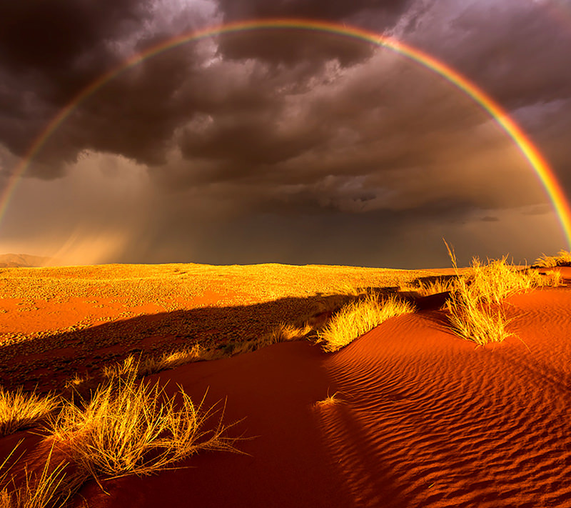 desert rainbow wallpaper