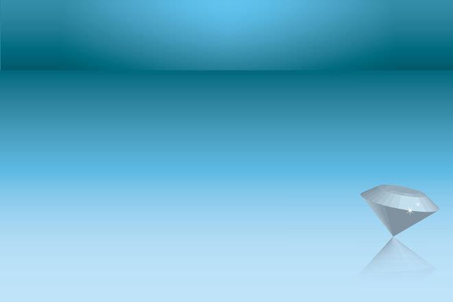 Diamond Corner Of Blue Background