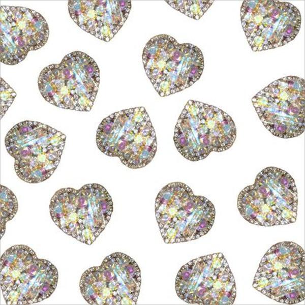 Diamond Hearts Background