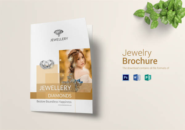Diamond Jewellery Bi Fold Brochure Template