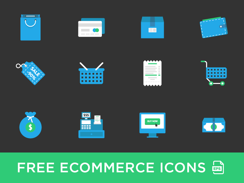 Download Free E-commerce Icons Set
