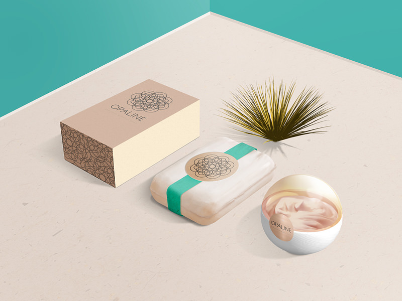 download free psd cosmetic branding mockup