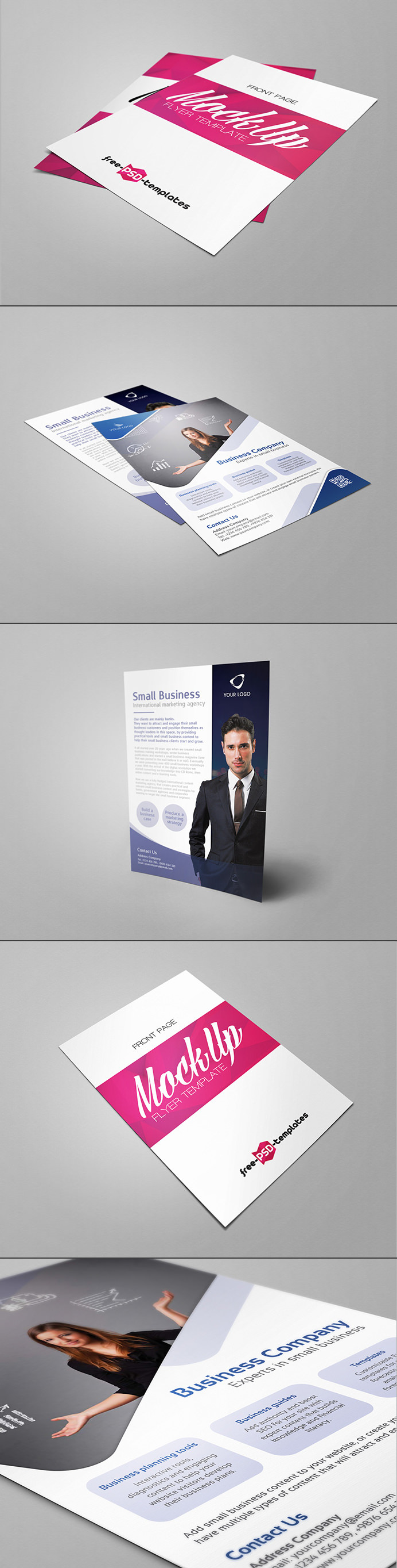 Download Photorealistic Free PSD Flyer Mockup