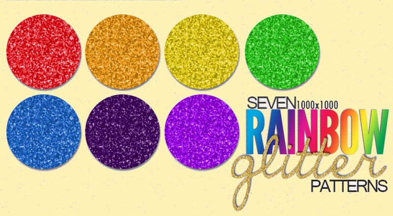 Download Rainbow Glitter Patterns