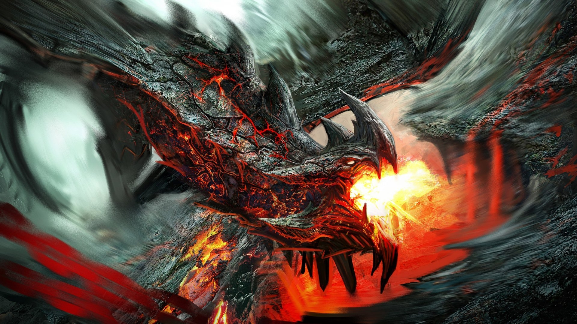 Dragon Breathing Fire Wallpaper