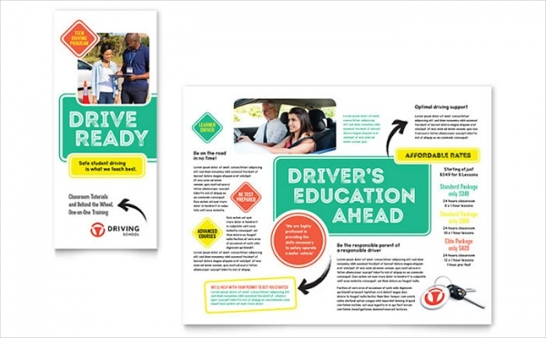 Driving School Course Brochure Template