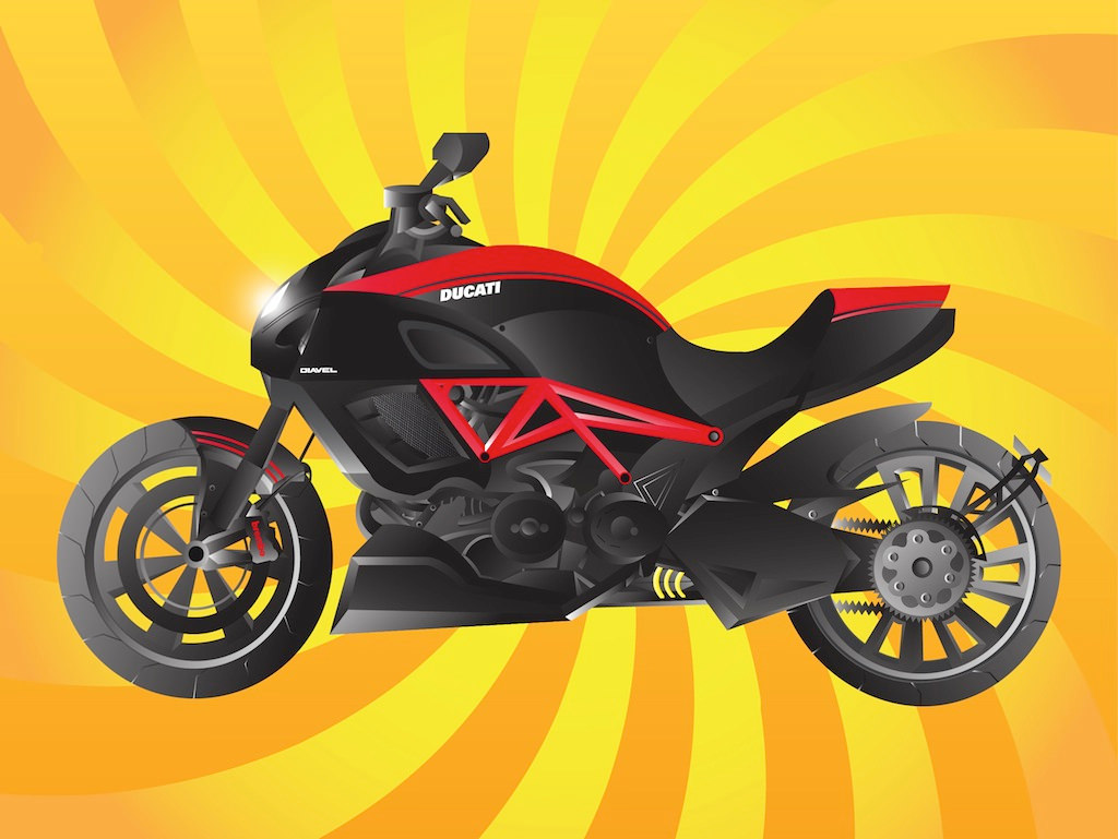 Ducati Motorcycle Vector Graphics