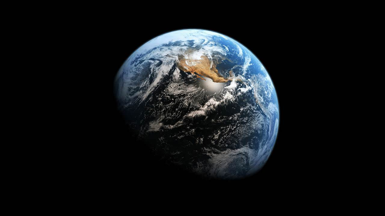 Earth From Outer Space Background