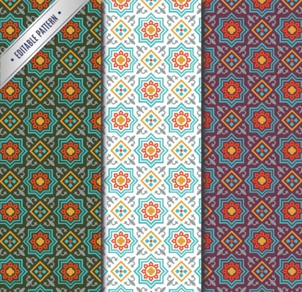 Editable Arabic Mosaic Pattern