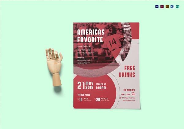 Editable Baseball Madness Flyer Template