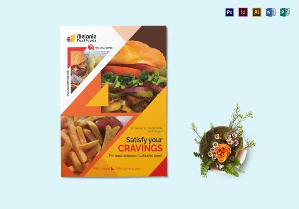 editable fast food flyer template