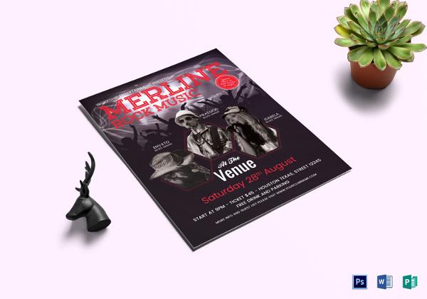 Editable Hip Hop Concert Flyer Template