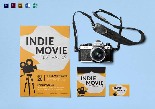 Editable Indie Movie Festival Flyer Template