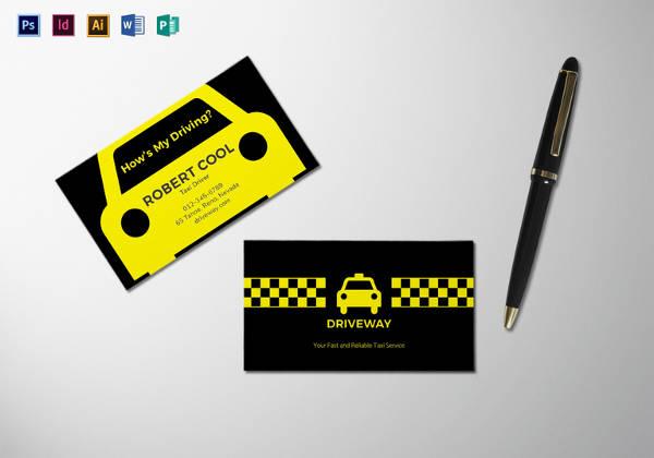 Editable Taxi Business Card Template