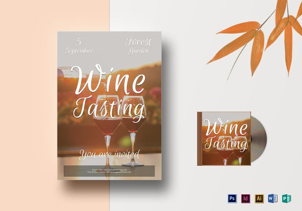 Editable Wine Tasting Flyer Template