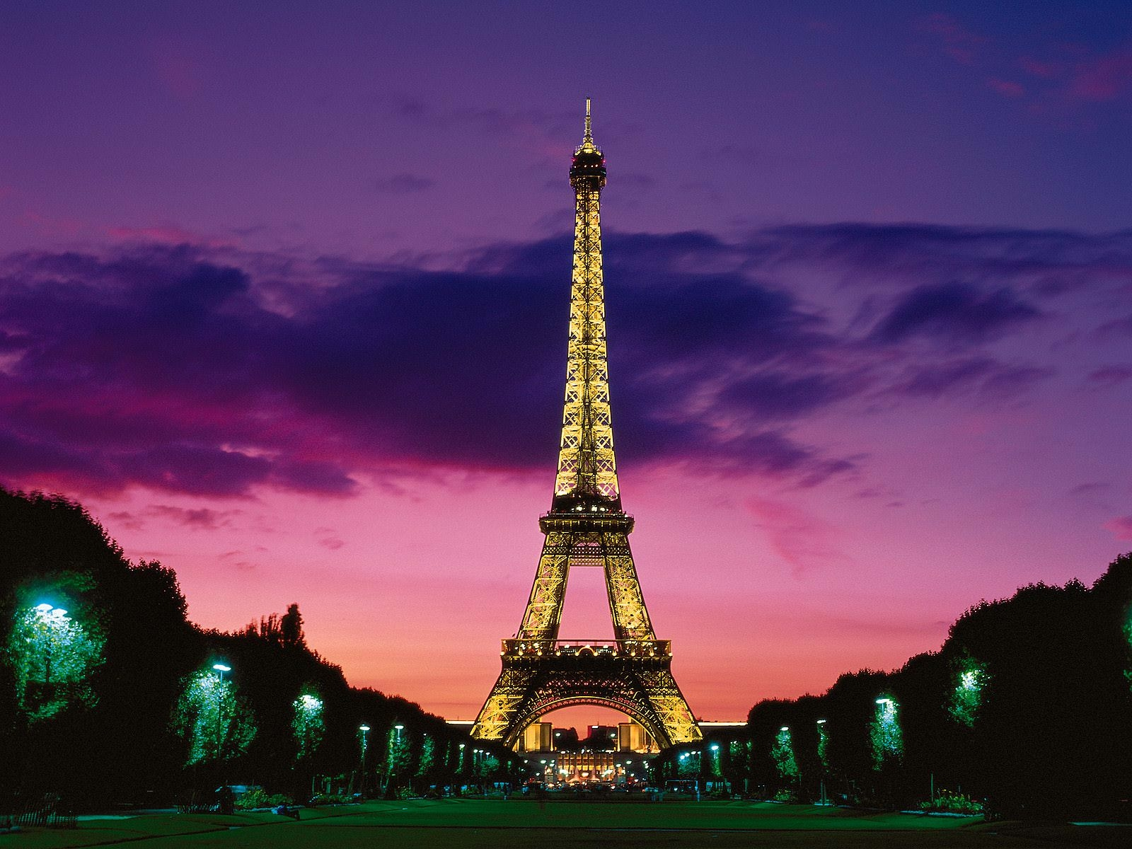 Eiffel Tower at Night Paris Wallpaper