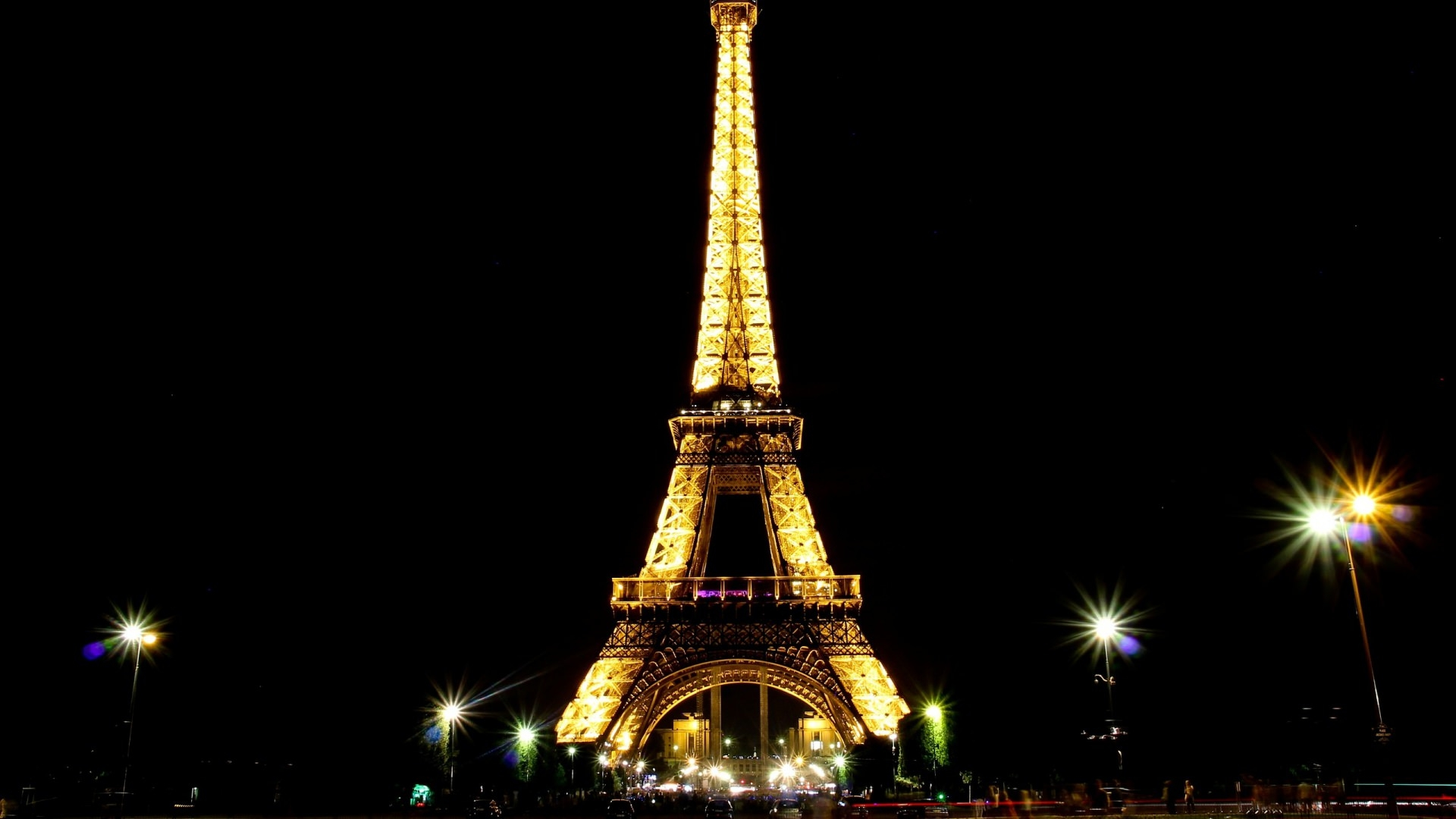 Eiffel Tower with Lights Background