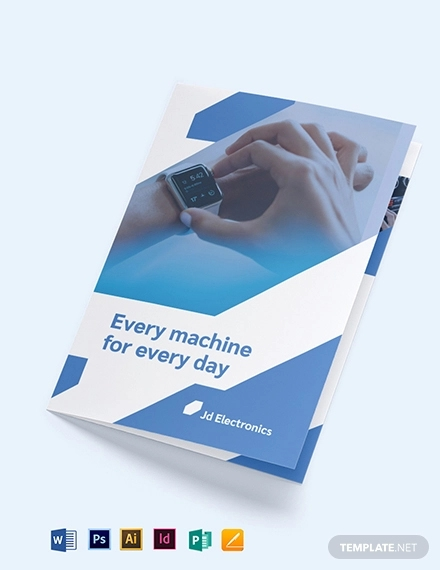 electronic bi fold brochure template