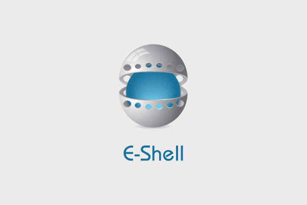 Electronic Shell Metal Logo