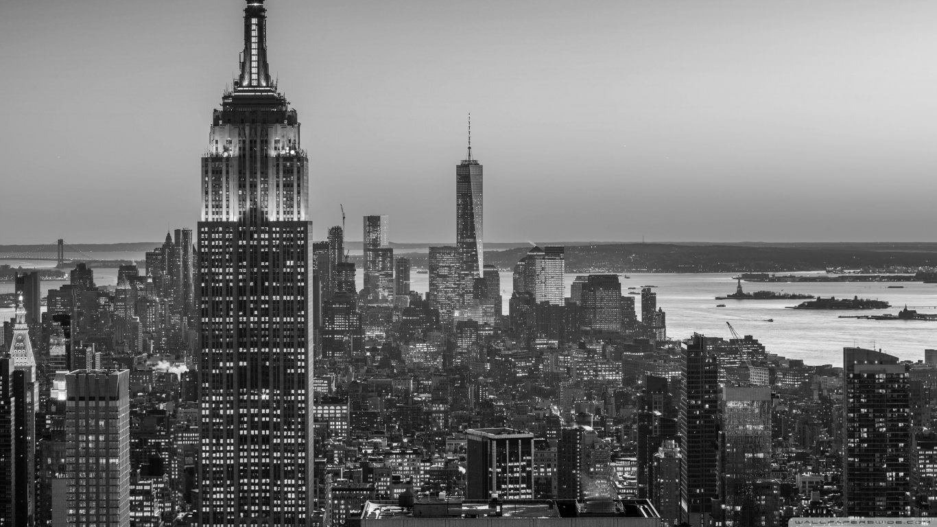 Empire State Building Black & White Wallpaper