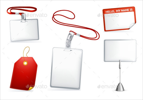 Empty Luggage Tags Illustration