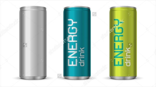 Energy Drink Can Packaging Design