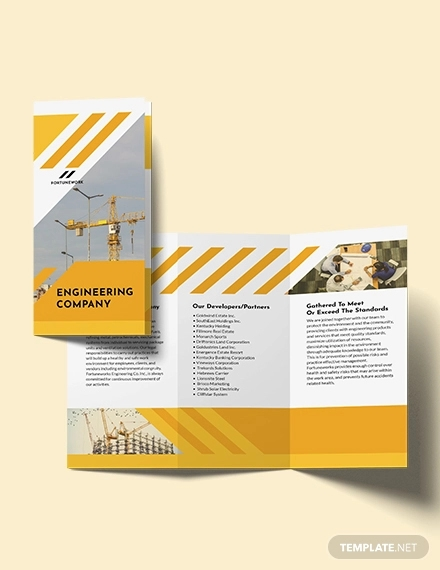 environmental company tri fold brochure