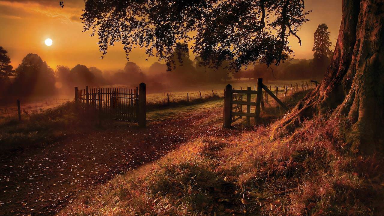 Epic Autumn Scene Wallpaper