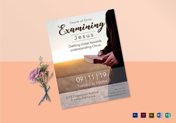 Examining Jesus Flyer Template in PSD