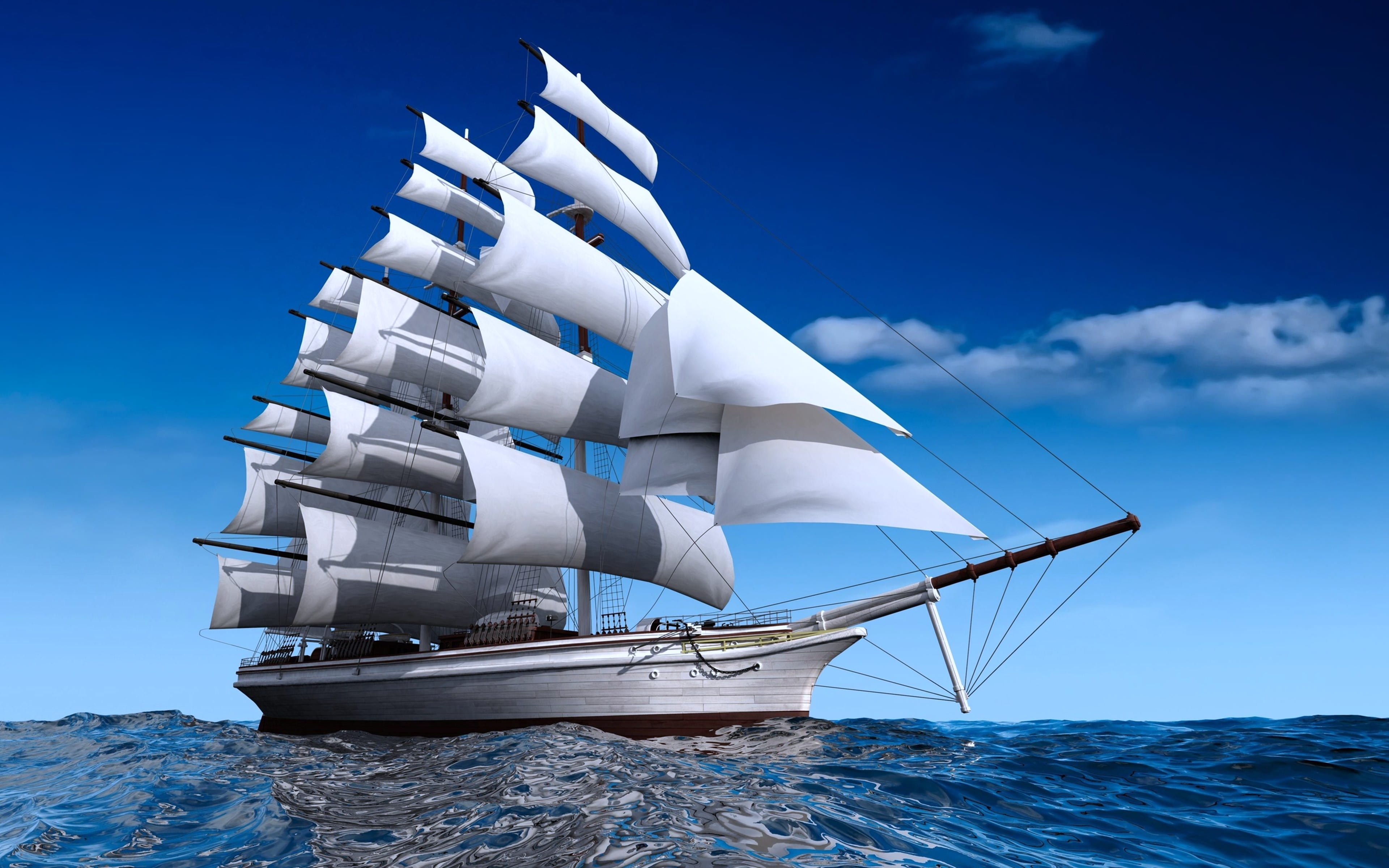 Excellent Sailing Wallpaper