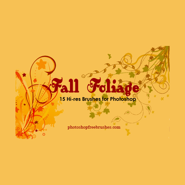 Fall foilage Brushe For Photoshop